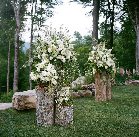 Just Position Some Floral Bouquets And Greenery Around The Doors Instantly They Become A Beautiful Ceremony Altar
